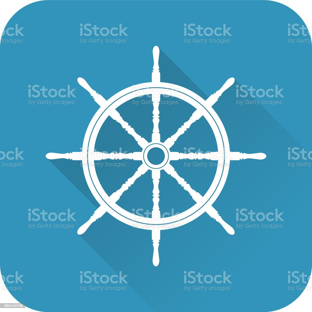 Ship Helm vector art illustration