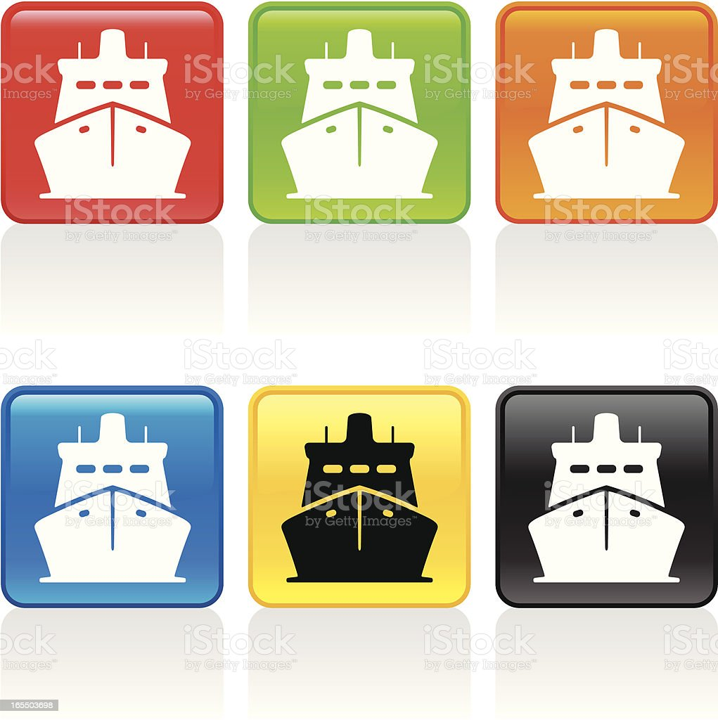 Ship Icon - Front View royalty-free stock vector art