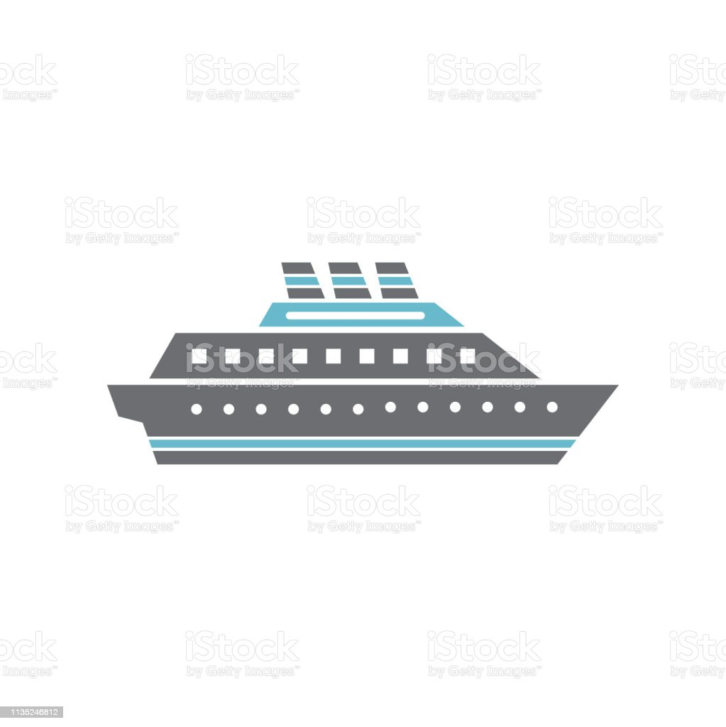 Ship Icon On Background For Graphic And Web Design Simple