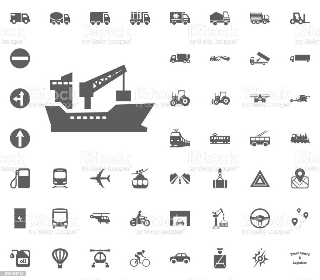Ship icon. Transport and Logistics set icons. Transportation set icons vector art illustration