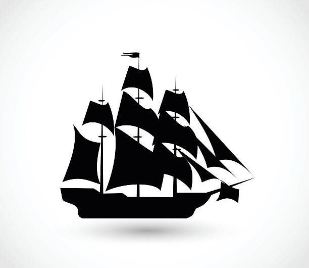 Ship icon vector illustration Ship icon  - simple vector illustration isolated on white background pirate ship stock illustrations