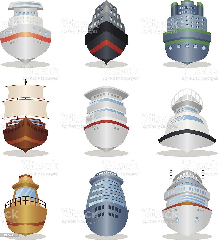 Ship icons royalty-free stock vector art
