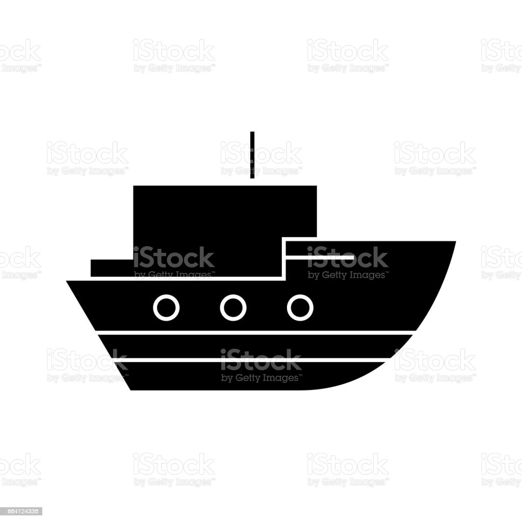 ship in sea   icon, vector illustration, sign on isolated background royalty-free ship in sea icon vector illustration sign on isolated background stock vector art & more images of aerial view