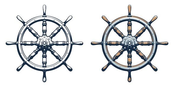 Ship rudder vintage style