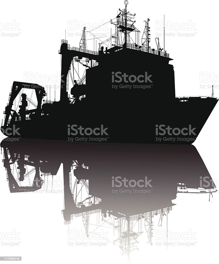 Ship silhouette royalty-free ship silhouette stock vector art & more images of antenna - aerial