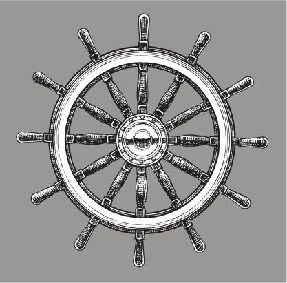 Ship Steering Wheel - Navigational Equipment
