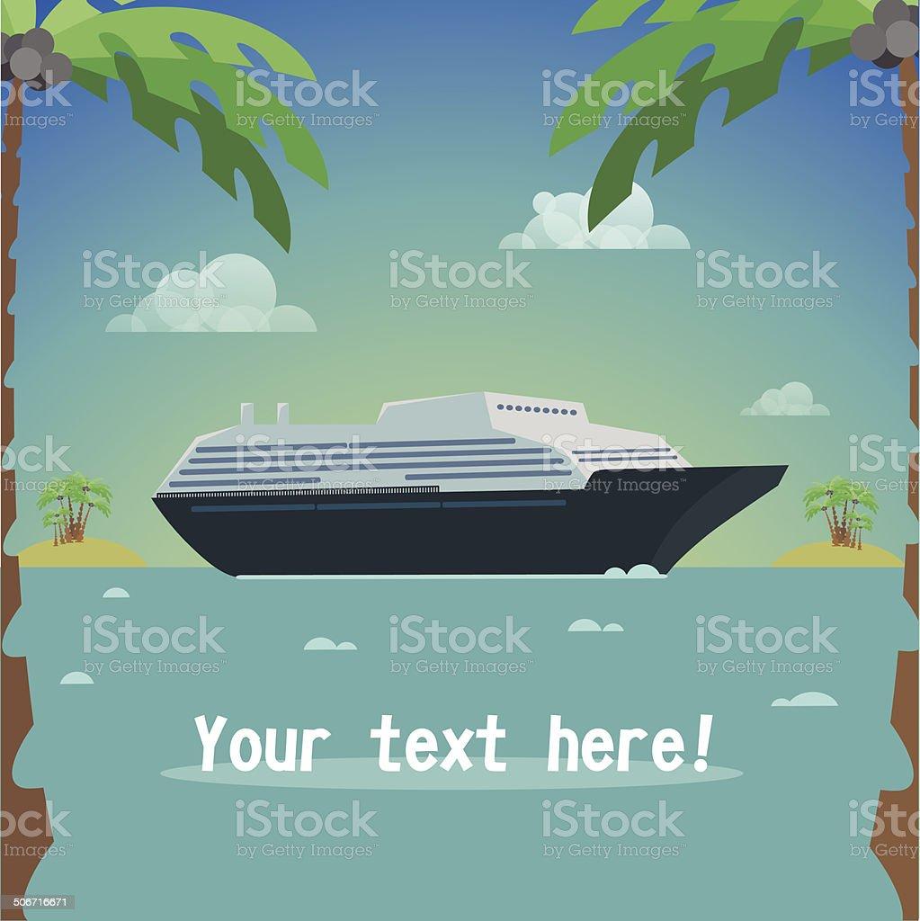 Ship travel royalty-free stock vector art