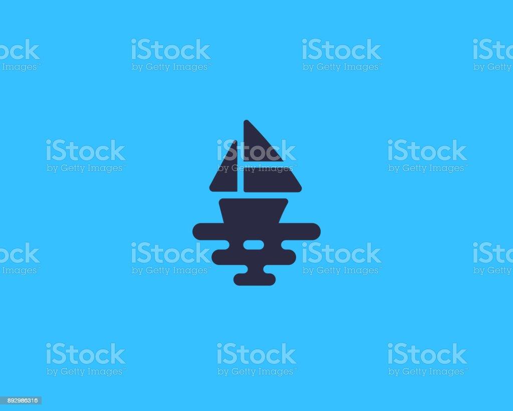 Ship vector icon. Boat sea creative vector art illustration