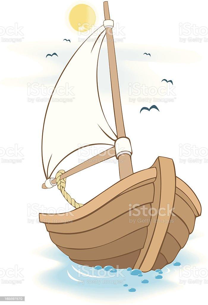 Barco de ilustración de barco de y más banco de imágenes de barco de vela libre de derechos