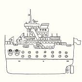 ship vector sketch