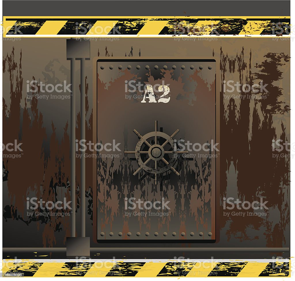 ship wreck door VECTOR vector art illustration