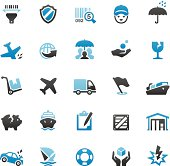 Shipping and Insurance icons set