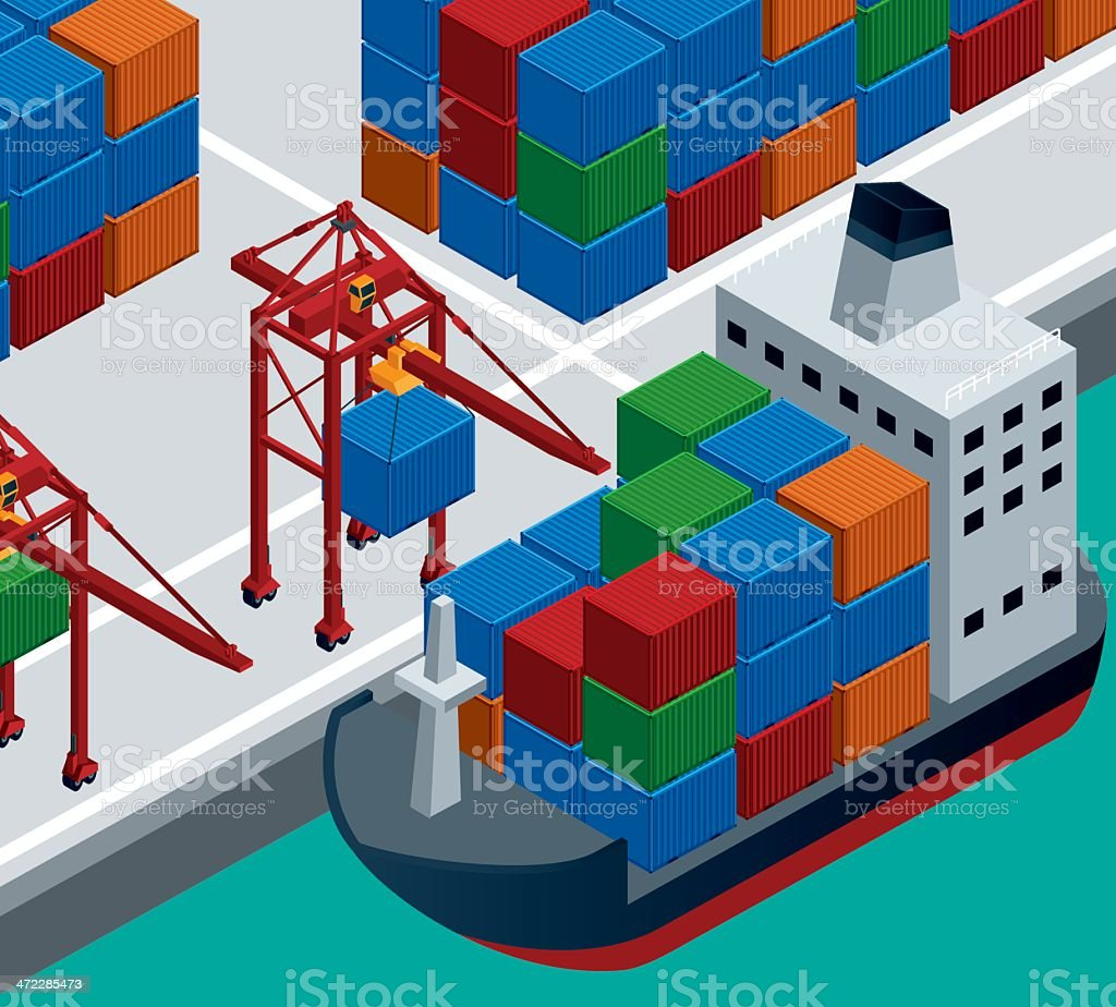 Shipping and Logistic Industry royalty-free stock vector art