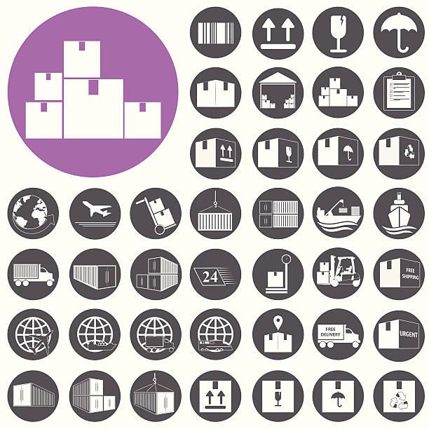 Versand- und Logistik-Symbole-set.  Vektor-Illustration eps10 – Vektorgrafik