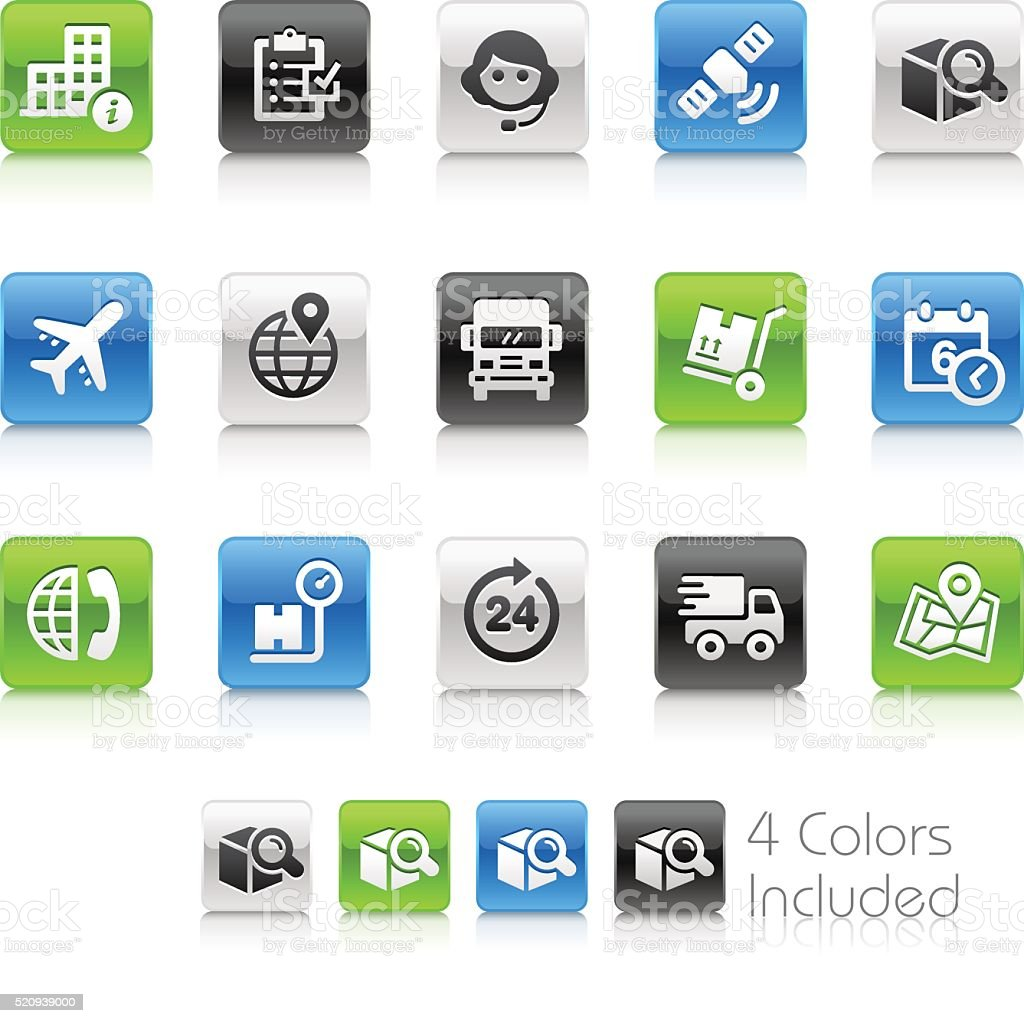 Shipping And Tracking Icons Clean Series Stock Vector Art More