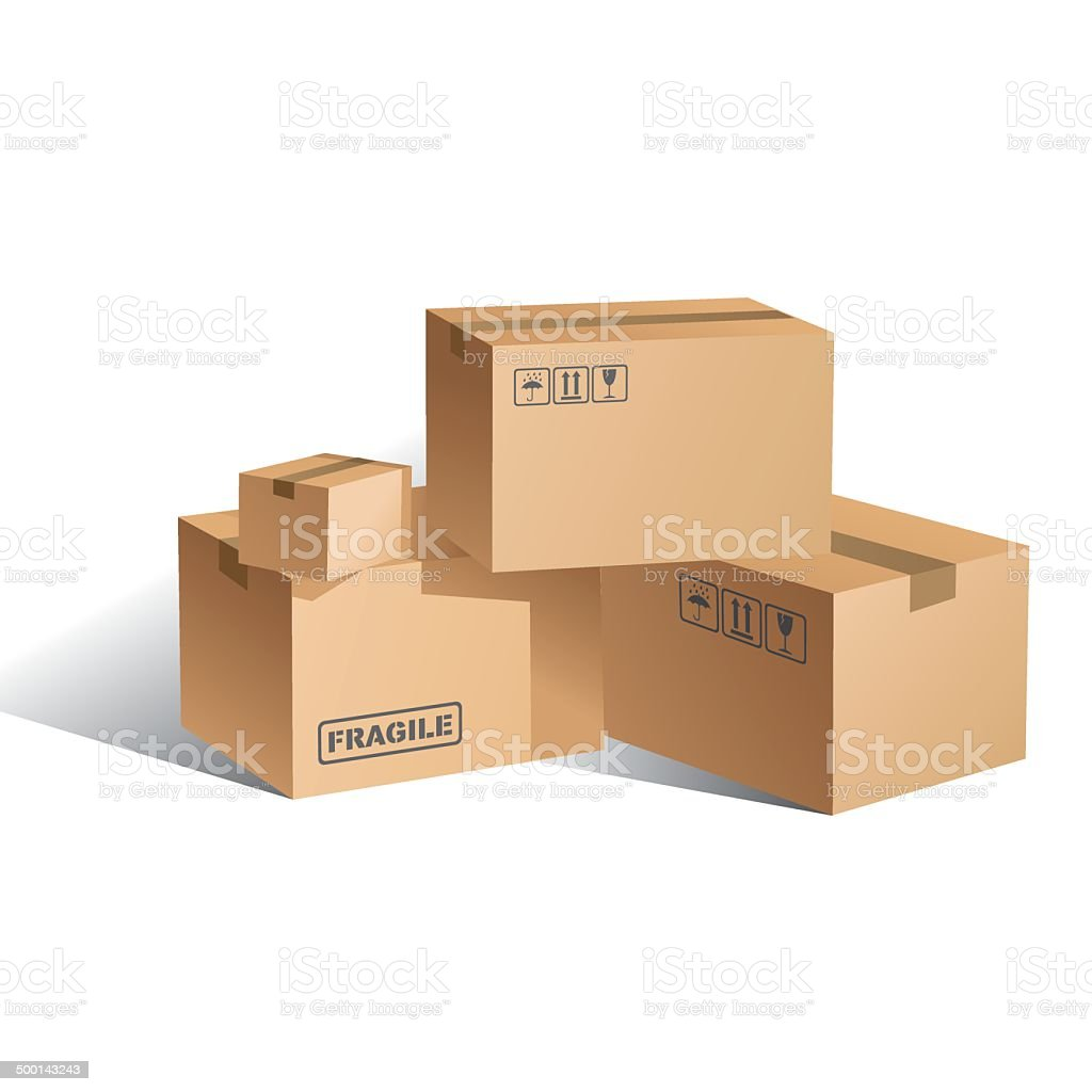 Royalty Free Cardboard Box Clip Art  Vector Images