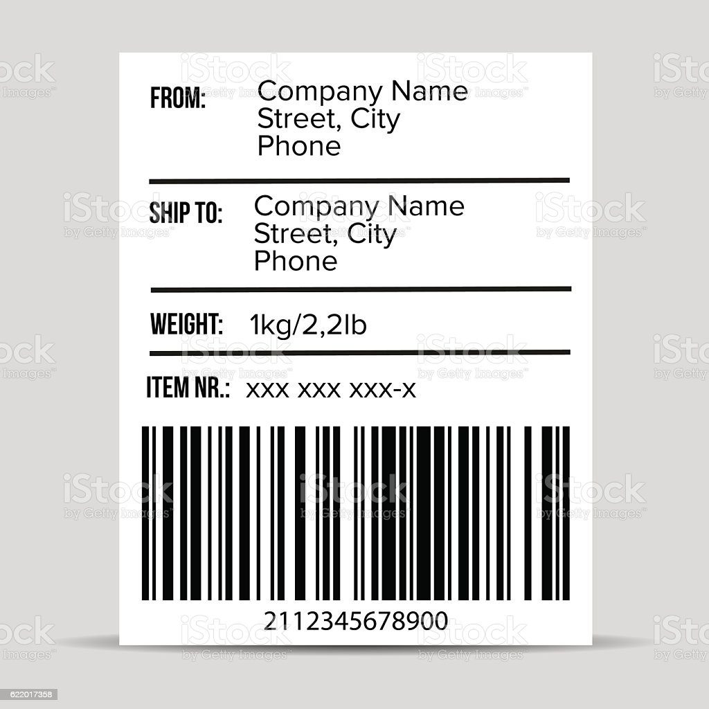 Shipping Barcode label vector vector art illustration