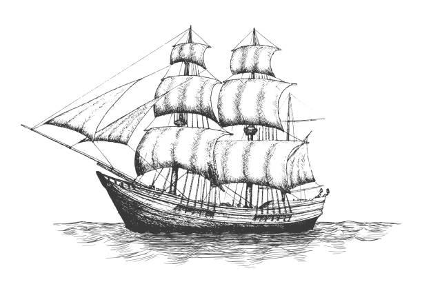 shipping company logo. - statek stock illustrations