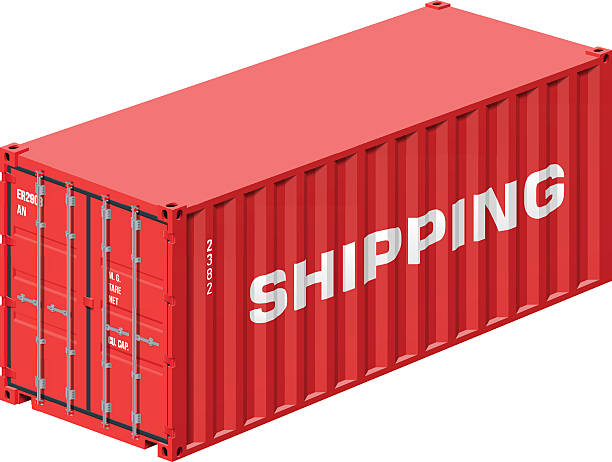 shipping container - container stock-grafiken, -clipart, -cartoons und -symbole