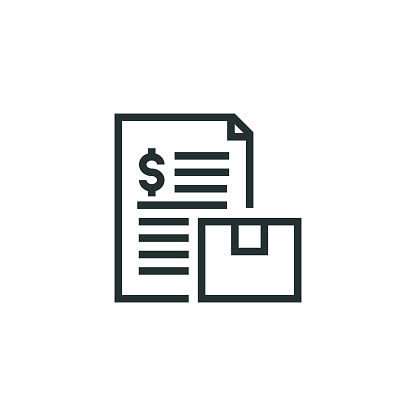 Shipping Cost Line Icon