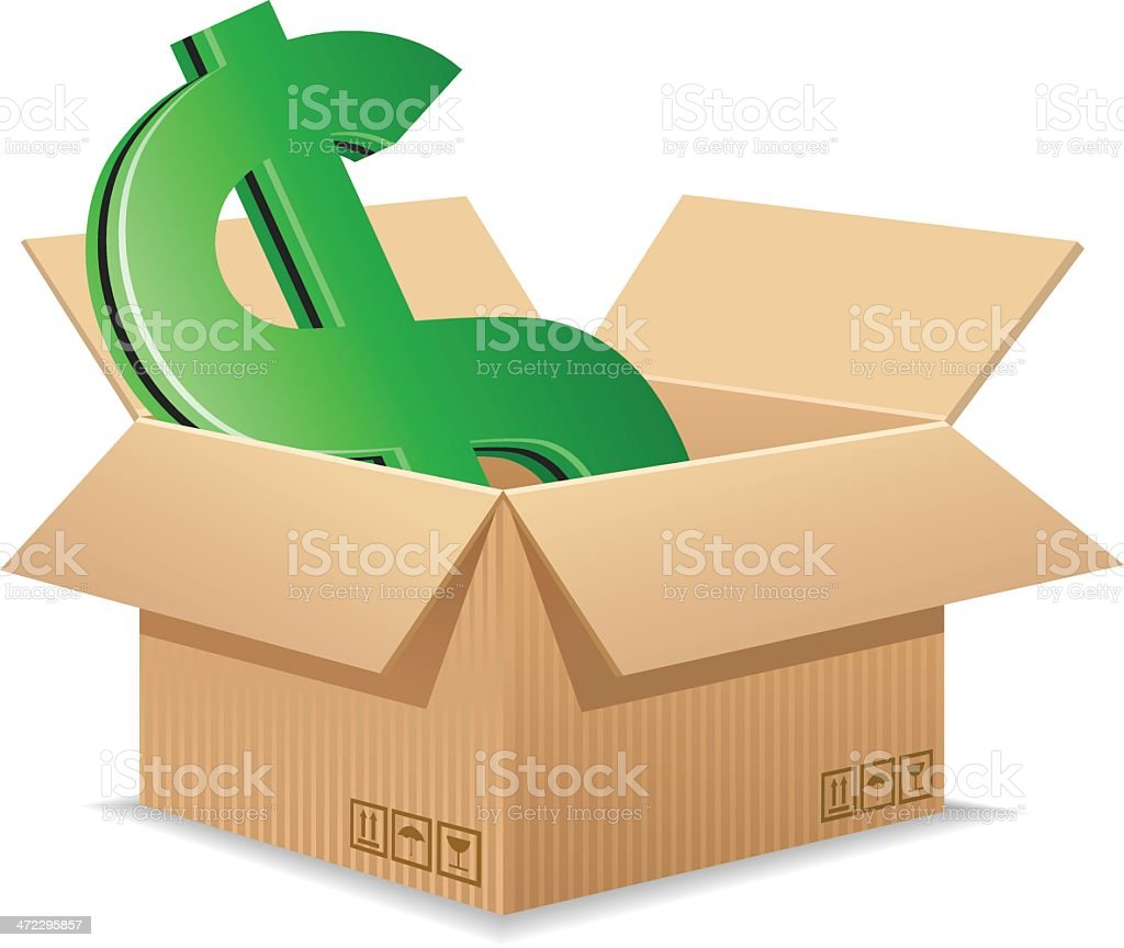 Shipping Cost royalty-free stock vector art