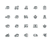 Shipping Icon Set - Thick Line Series