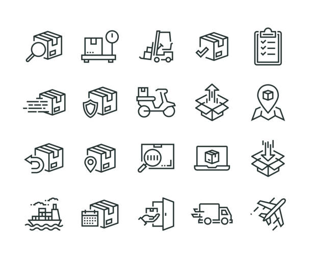 Shipping Icon Set Shipping Icon Set for sale stock illustrations