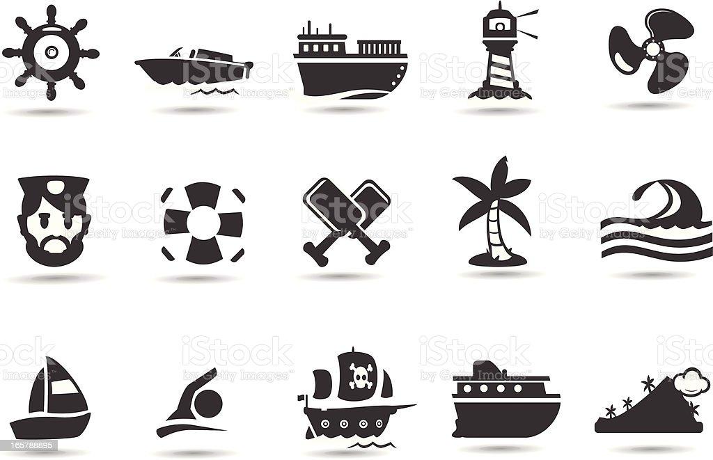 Shipping Icon Set royalty-free stock vector art