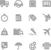 Shipping Icons | Letterpress Series