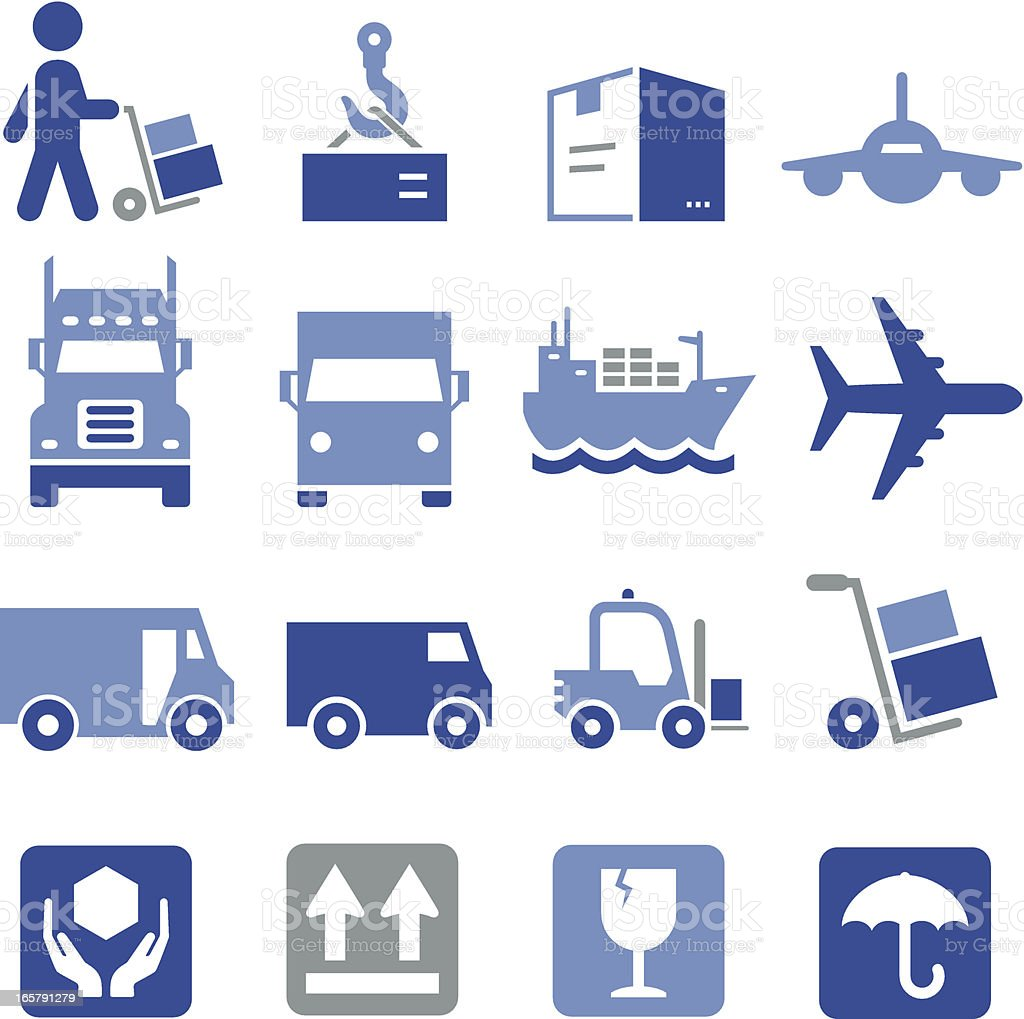 Shipping Icons - Pro Series royalty-free stock vector art