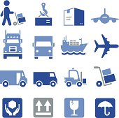 Freight, cargo and shipping icons. Professional icons for your print project or Web site. See more in this series.