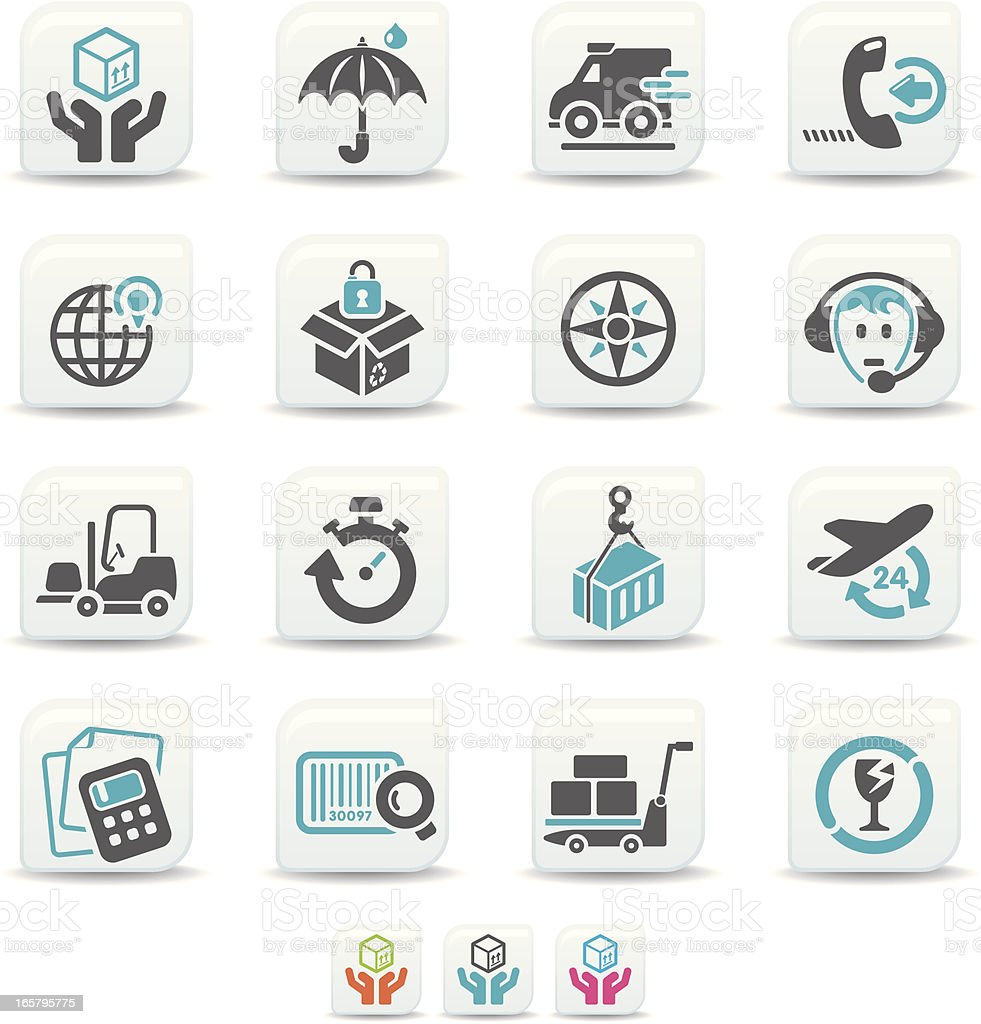 shipping icons | simicoso collection royalty-free stock vector art