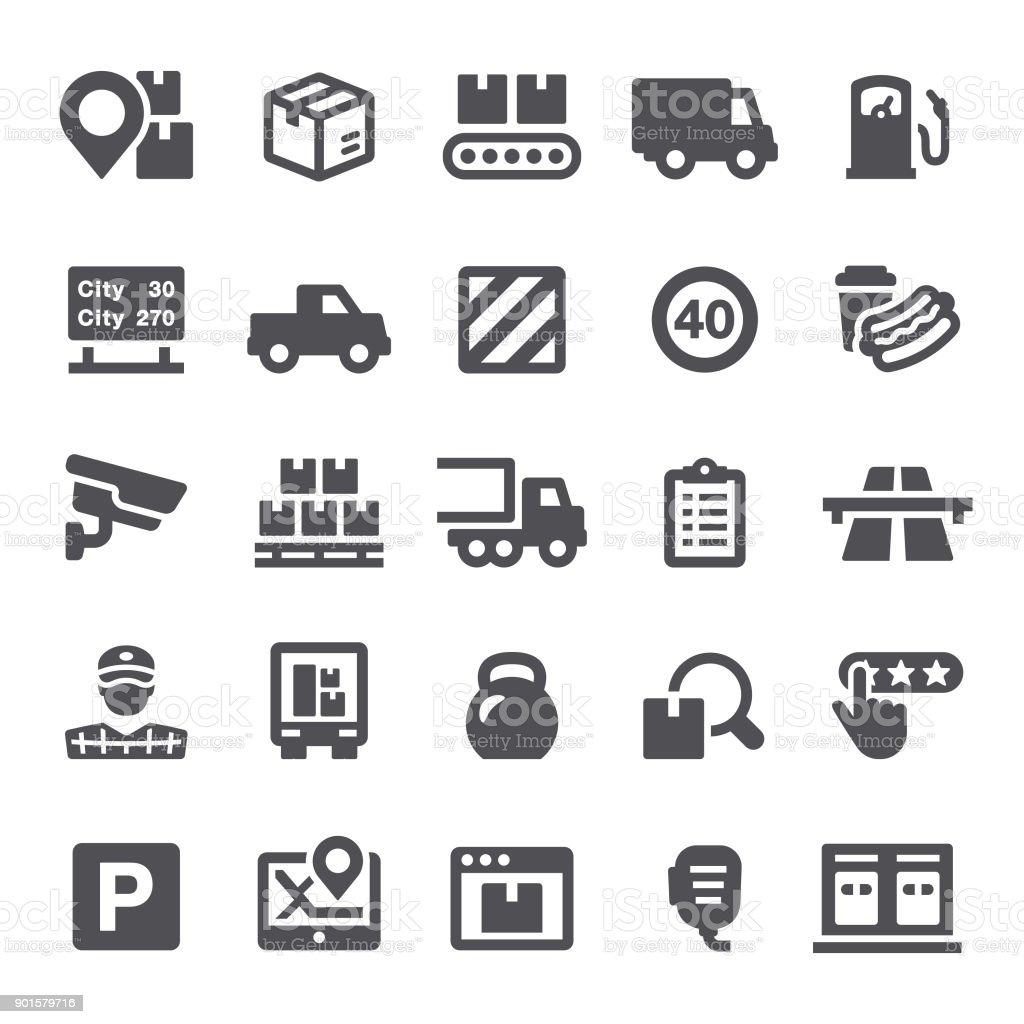 Iconos de envío - ilustración de arte vectorial