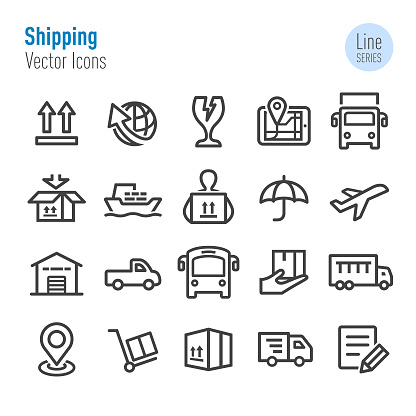 Shipping Icons - Vector Line Series
