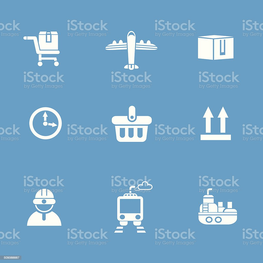 Shipping icons,vector royalty-free shipping iconsvector stock vector art & more images of airplane