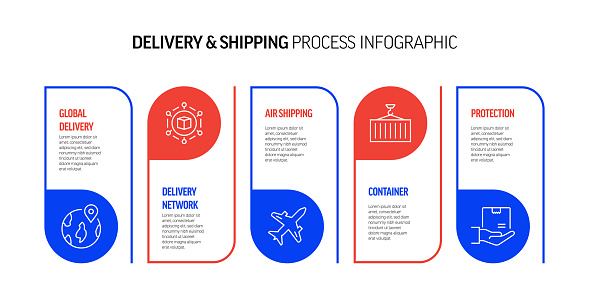 Shipping, Logistic and Delivery Related Process Infographic Design