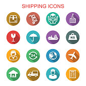 shipping long shadow icons