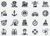 Shipping Port and Nautical Perfect Icons