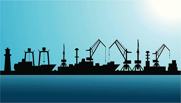 ilustrações de stock, clip art, desenhos animados e ícones de porto silhueta de transporte - porto