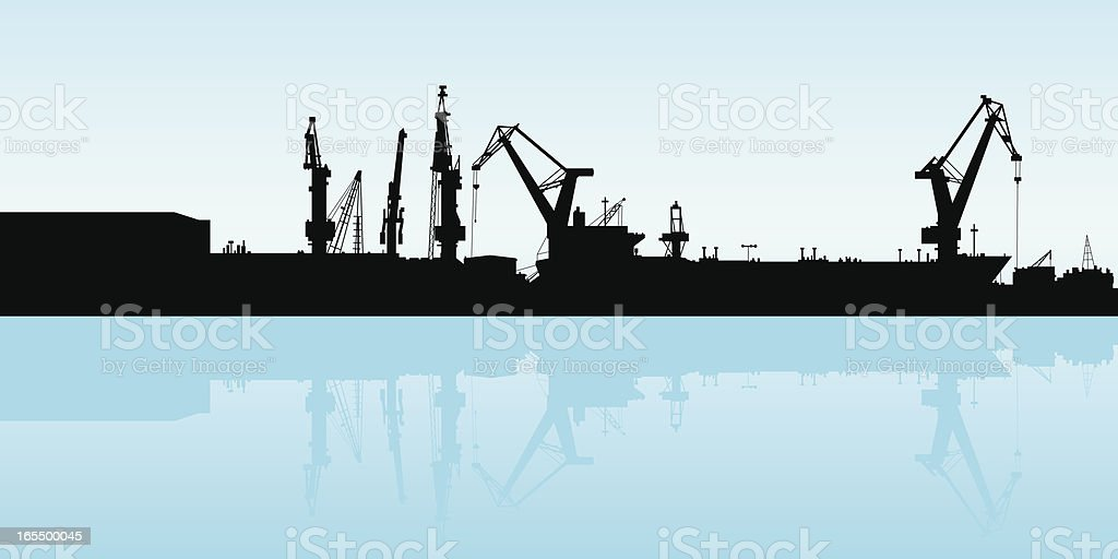 Shipping Port royalty-free shipping port stock vector art & more images of backgrounds