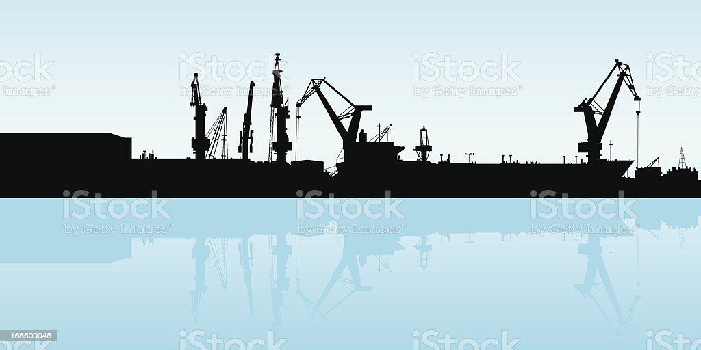 Shipping Port vector art illustration