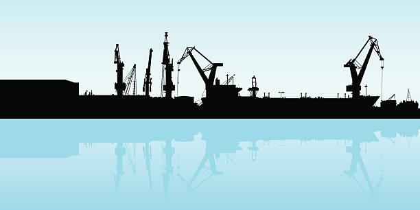 ilustrações de stock, clip art, desenhos animados e ícones de porta de transporte - porto