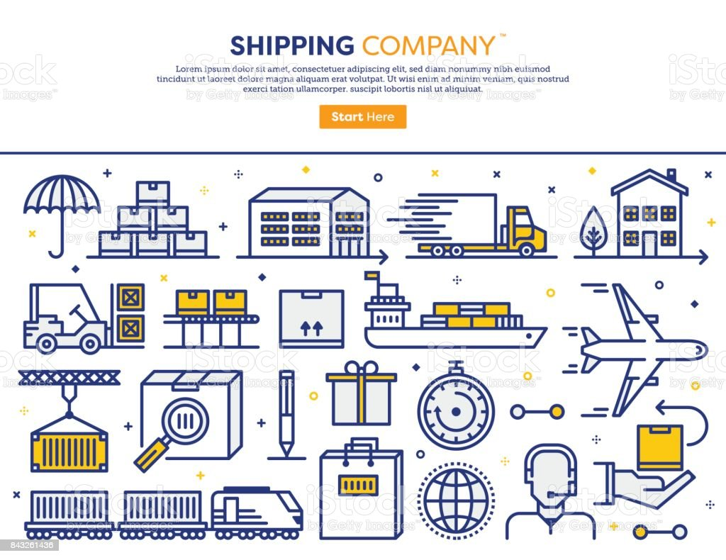 Shipping Services Concept vector art illustration