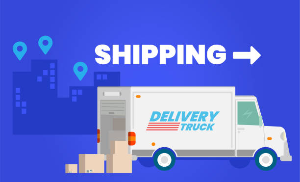 Shipping vector art illustration