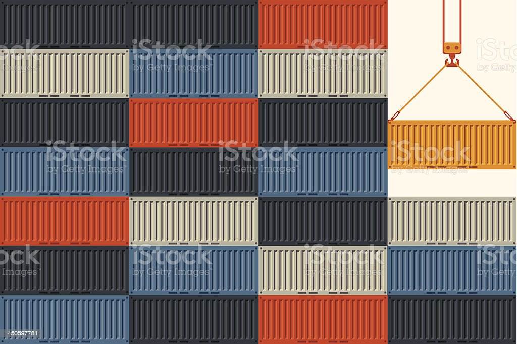 Shipping vector art illustration