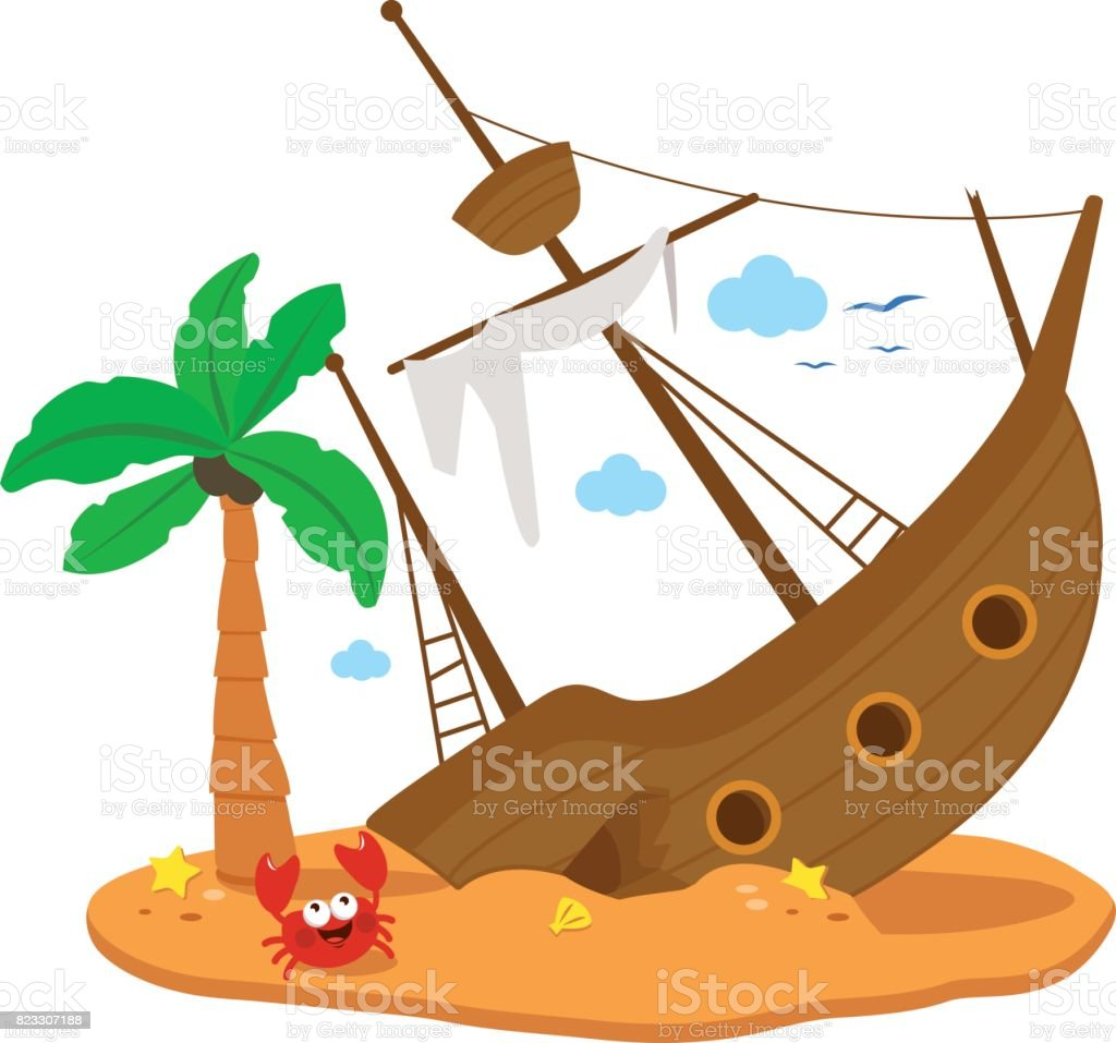 royalty free shipwreck clip art vector images illustrations istock rh istockphoto com Animated Shipwreck Shipwreck Vector