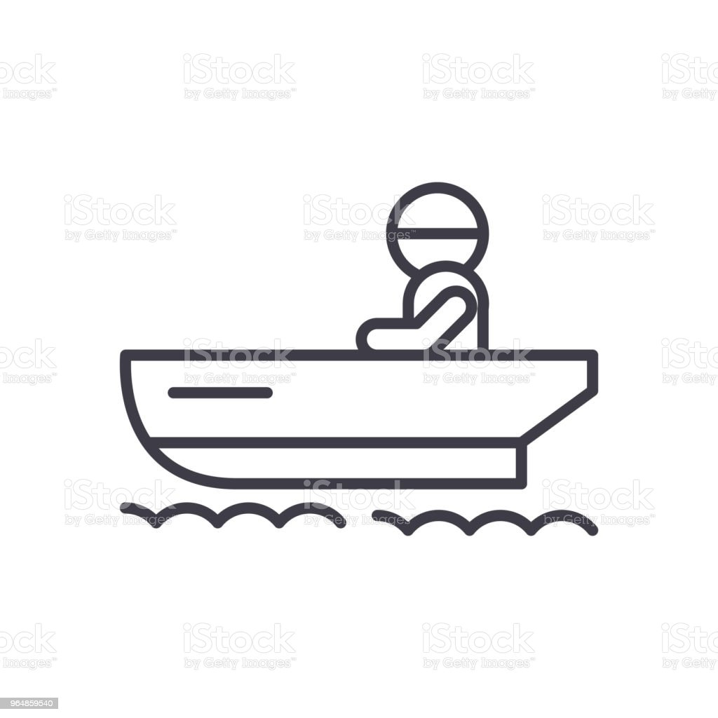 Ship's boat black icon concept. Ship's boat flat  vector symbol, sign, illustration. royalty-free ships boat black icon concept ships boat flat vector symbol sign illustration stock vector art & more images of abstract