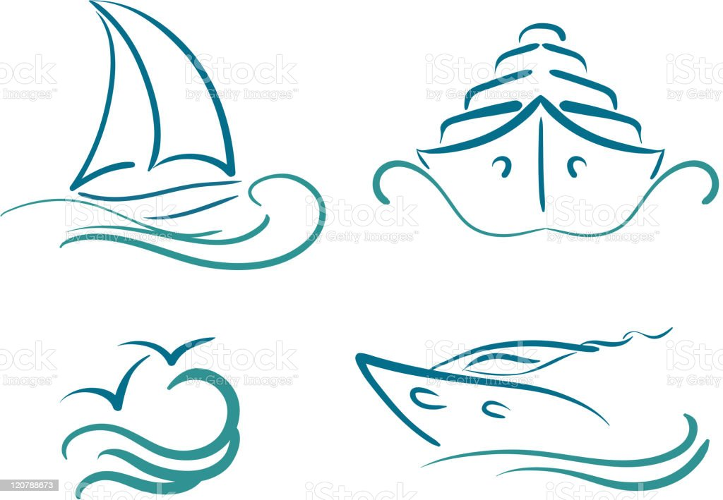 ships symbols royalty-free stock vector art