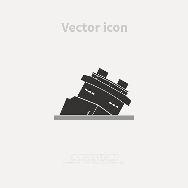 illustrations, cliparts, dessins animés et icônes de shipwreck icon - naufrage