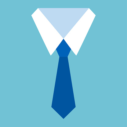 Shirt and tie icon. Formal suit office. Vector illustration